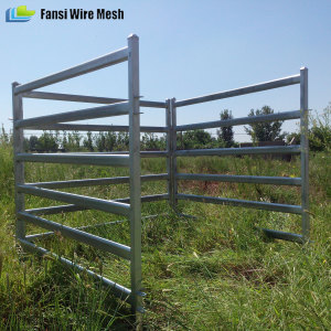 New product steel livestock 42mm round rails corral pen
