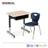 orizeal plastic book box and extra large desk top with HPL surface American school desk