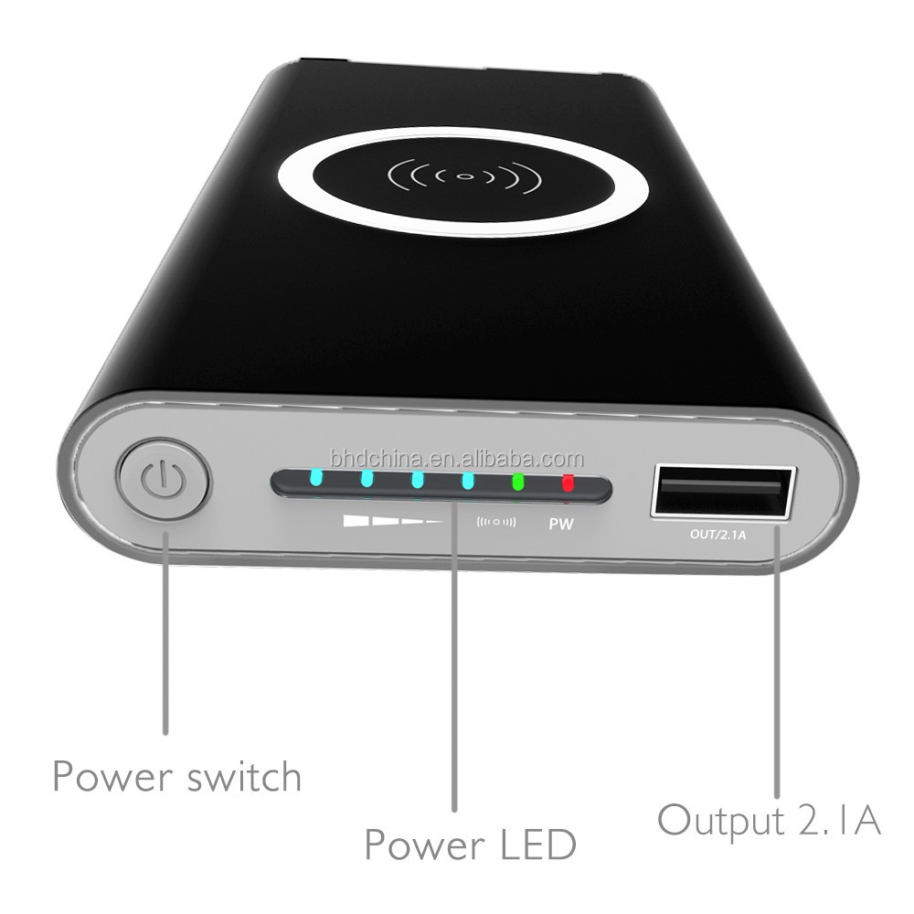 iphone 10000. qi wireless charger power bank 10000 mah for iphone samsung galaxy s6 s7 edge portable