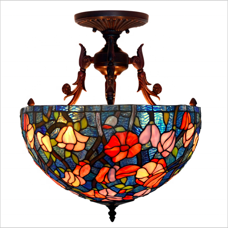 Hot Sell Tiffany Stained Glass Hanging Lamp And Pendant Buy Tiffany Pendant Lamp Glass Pendant Light For Restaurant Hot Light Pendant Product On