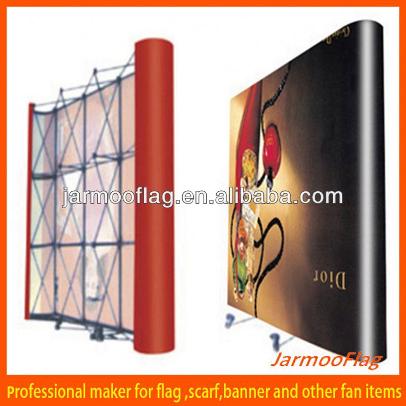 trade show stand magnetic pop up display stand banner stands