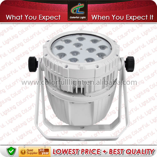 12 PCS 8W RGBW 4 IN 1 LED Waterproof Fitting White Housing DMX 512 Stage Par Light