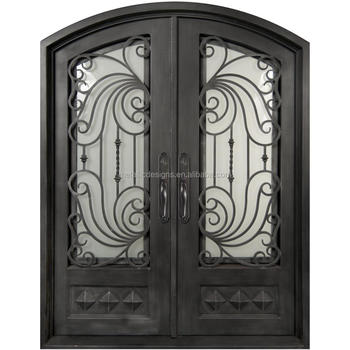 Residential Safety Entry Steel Door Design Luxury House Front Double