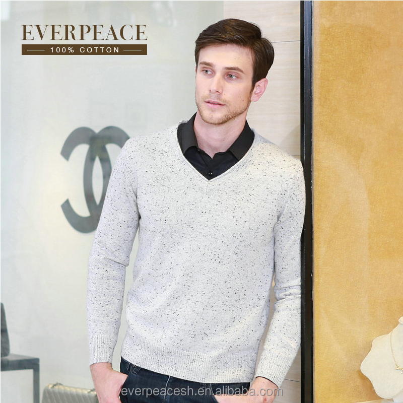 Men knitted fashion yarn pullover sweater