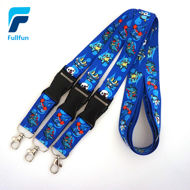 Hot sale printed your own logo breakaway NBA sports lanyard with sample free