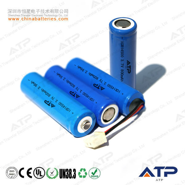 3.7v 800mah Rechargeable Li-ion Battery / 3.7v 800mah Aa 14500 ...