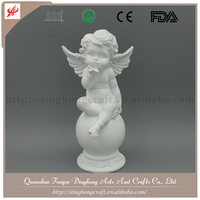 Wholesale Resin Angel and Cross Religious Crafts Resin Craft white Angel Ornament