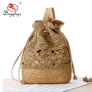 2018 hot fashion handbag ladies crochet handbag ready low MOQ straw bag