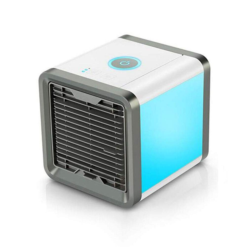 For The Fans Co. CJC Air Cooler Conditioner 3 in 1 Portable Mini Air Conditioner Cooler Humidifier Purifier 7 Colors LED Lights