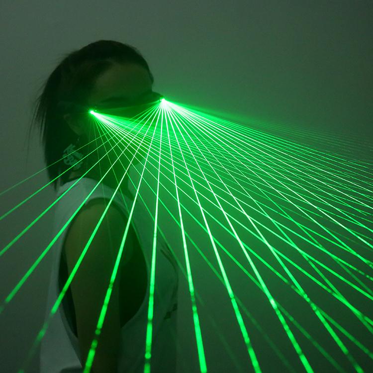 4 stücke 532nm 80 mW Laser Bühne Leuchthandschuh LED Grüne Laserhandschuhe Für DJ Club / Party Show