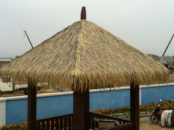 SJH082905 Artificial Thatch Roofing Synthetic Thatch Gazebo Synthetic  Thatch Roofing