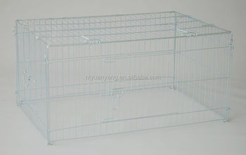metal outdoor rabbit hutch playpen