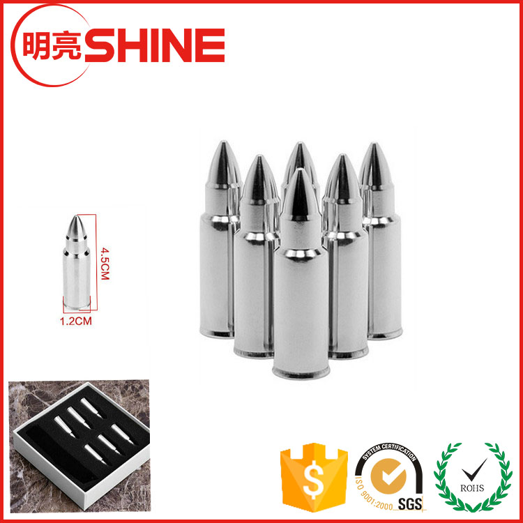 Amazon New Premium Bullet Shaped Stainless Steel Whiskey Stone