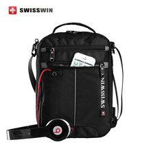 Swissgear Messenger Shoulder Bag Black Bag for Ipad handy crossbody bag for students Casual Oxford
