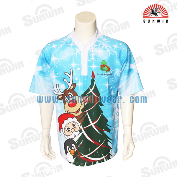 New style custom top quality sublimation cool dry rugby jersey