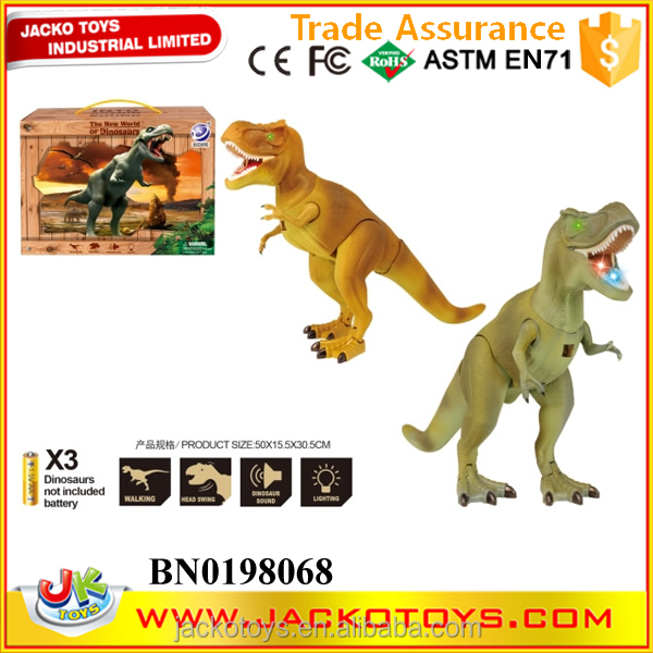 Electric tyrannosaurus model battery operated dinosaur toys sound & light