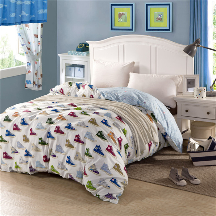 Quilt cover Duvet cover Bedding bag Bed bag Cotton fabric china style converse logo style printed