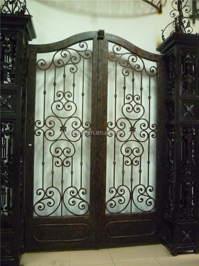 New latest house luxury wrought iron main gate designs gyd for Latest main gate designs