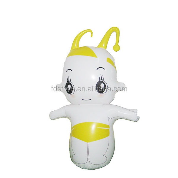 PVC customed inflatable carton tumbler toy