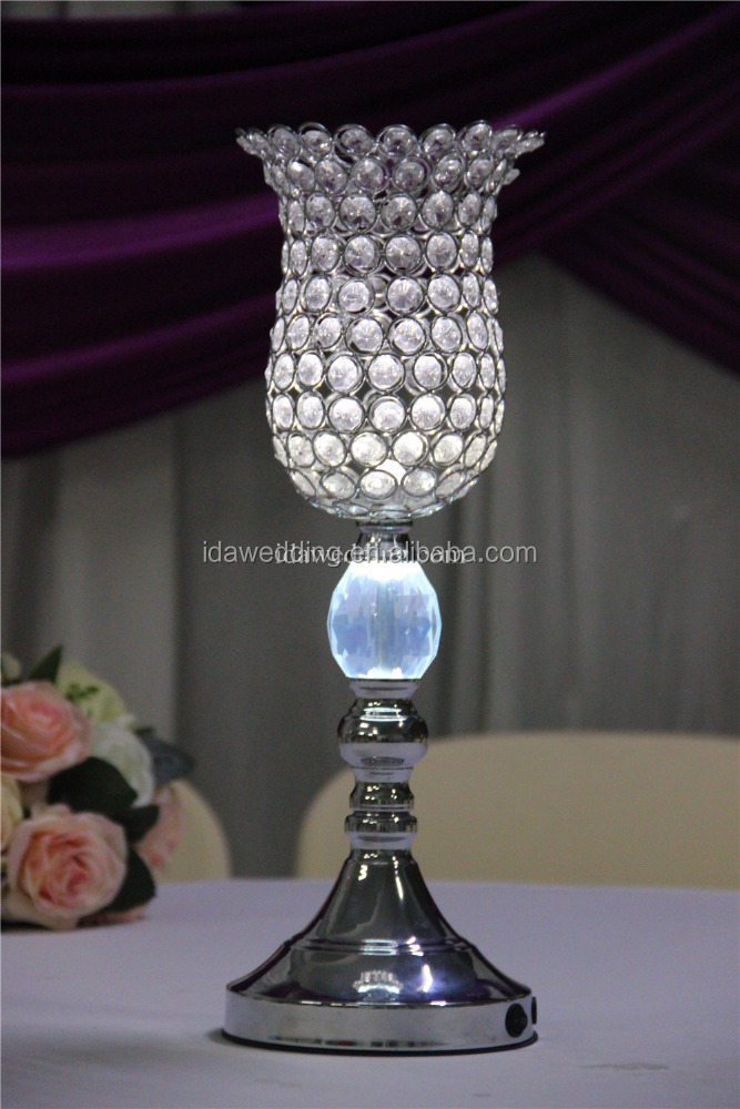 Whole Crystal Vases Eiffel Tower Centerpieces Led Wedding For Tables