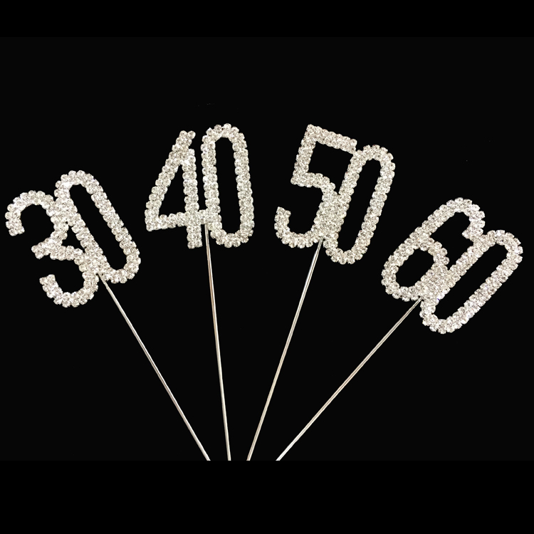 Wholesale 45cm Number 1 To 100 Birthday Years Old Cake Topper Set Figure Cupcake Toppers