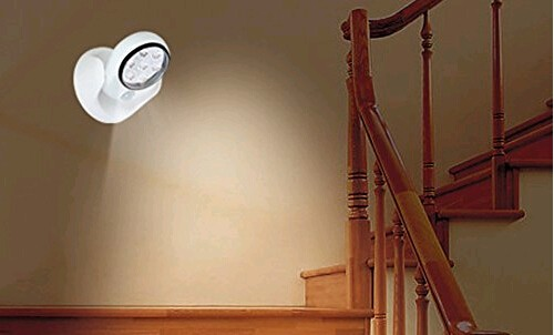Wireless 7 LED Motion Sensor Light with Adjustable Angles
