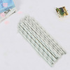 Straw And Mini Cake Banner For Kid Birthday Decorating Banner Cake Toppers Paper Straw