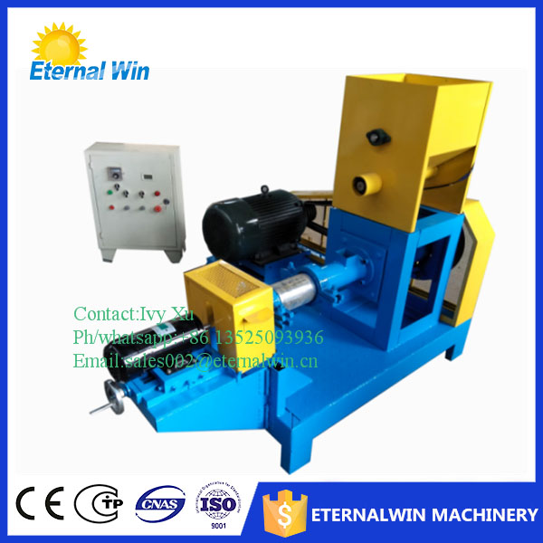 Hot sale feed pelleting machine for fish/small floating fish food extruder/poultry puffed feed machine