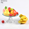 Colored round fruit plate cake plate with glass stand glass dome