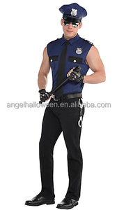 Adult under arrest cop costume sexy carnival fancy dress with fashion design AGM2492