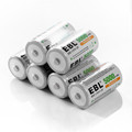 6pcs lot EBL 5000mAh Size C Batteries R14 Ni Mh Batteria 1 2v Rechargeable battery for