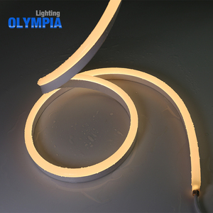 6500K Cold White Dome Shape LED Flexible Neon Strip Light With Super Brightness