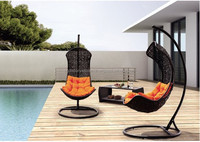 Poly rattan swing, poly rattan furniture supplier Vietnam, poly rattan haging chair