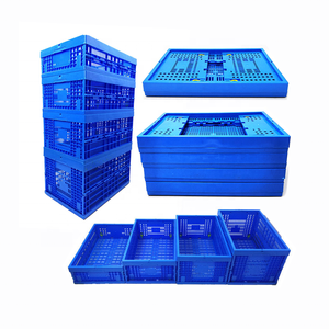 Recyclable Feature and Apparel Industrial Use mesh plastic folding crate storage transporting box crates