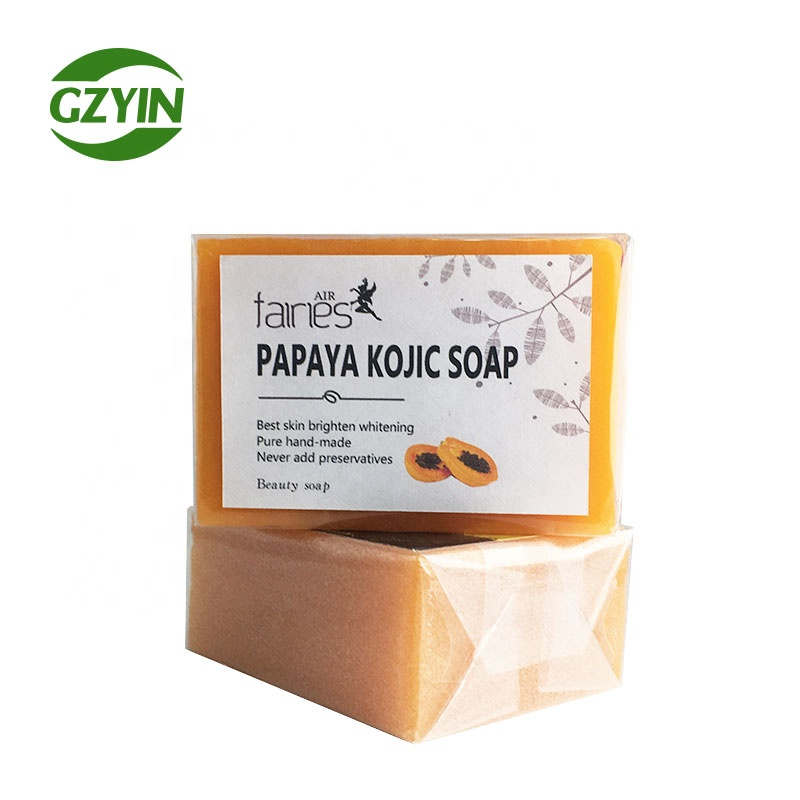 private label glutathione with papaya kojic acids skin whitening toilet soap