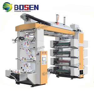 8 colors High Speed flexo die cutting and printing machine To Print Film And Paper In Roll