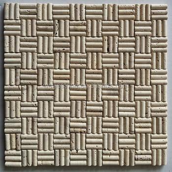 Forma Irregolare Pilastro In Travertino Mattonelle Di Mosaico Per La ...
