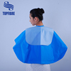 wholesale low price short hair cuts waterproof shampoo cape pvc hair cape