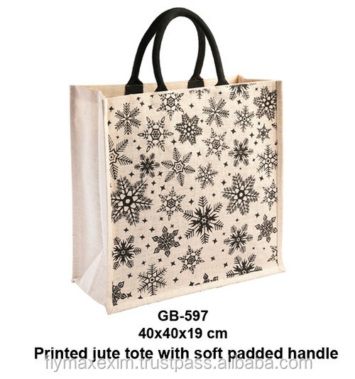 embroidery jute handbag/ printed jute bag/ customized jute bag wholesale
