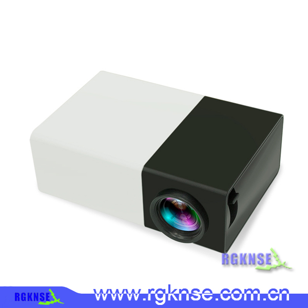 New mini portable projector yg300 black color, mobile phone projector for home use