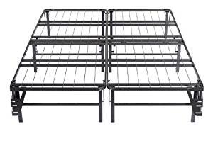 Kings Brand Metal Bi-Fold Platform Bed Frame Base Mattress Foundation (Twin)