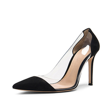 beautiful pvc women clear sexy ladies transparent shoes lady stiletto suede 2017 women high heel shoes