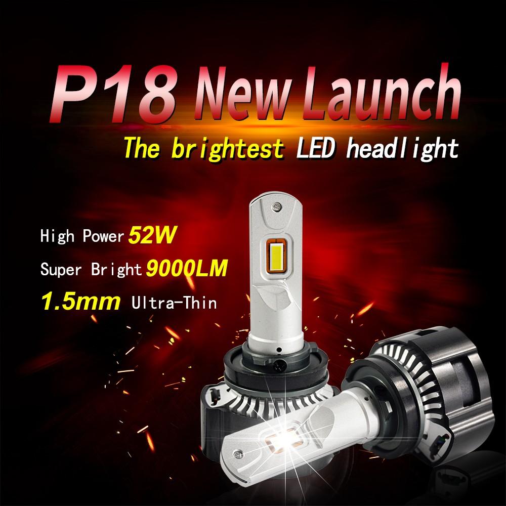 9006 HB4 Super FocusBeam LED Headlight Bulbs Conversion Kit 6000K White HID Bulb