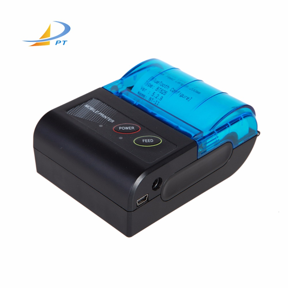 58mm draagbare ticket bluetooth thermische mini printer