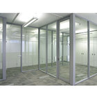Professional custom aluminium panel living room office partition aluminum glass partition