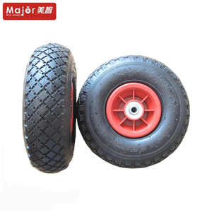 10 inch pneumatic rubber trolley tires pedal go kart wheels