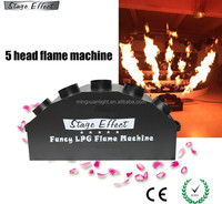 High quality stage effect 5 heads spray fire flame machine