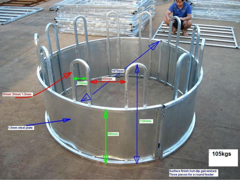 hay double metal feeder en horses