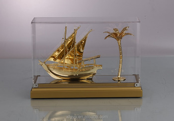 boat decoration award souvenir gift with acrylic box