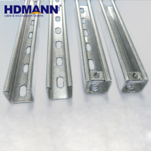 Strut slotted galvanized support system u shaped channel